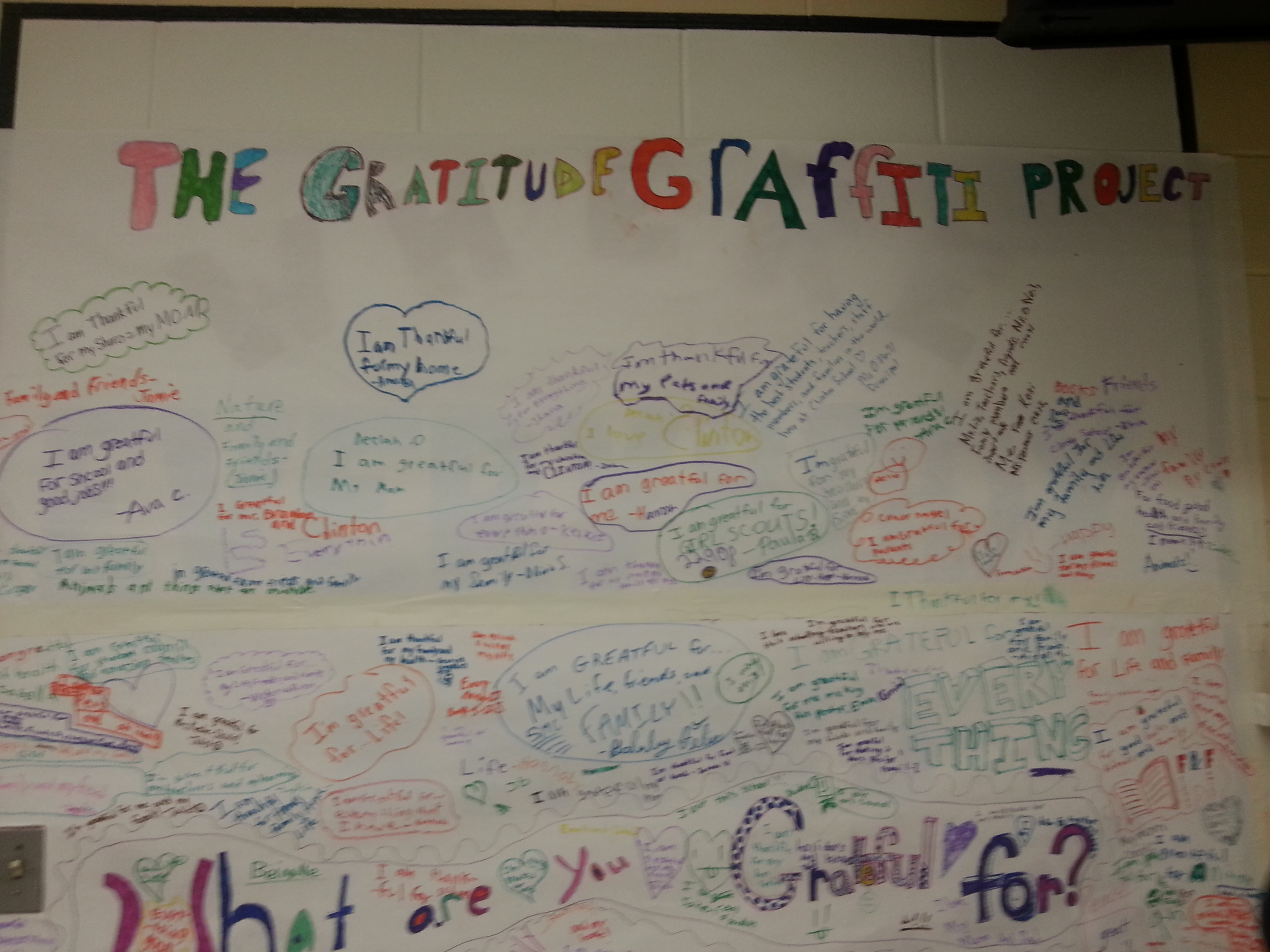 project blog posts the gratitude graffiti project