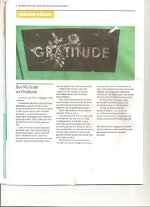 Megaphone Article-Gratitude Graffiti Project